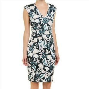 Alexia Admor Floral Vneck Sheath Dress S